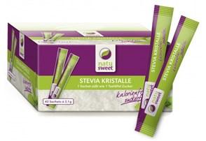 Natusweet Stevia Sachets 40 x 2,1 g:    ideal zum Süßen Ihrer Heißgetränke   kalorienfrei – 0 Kalorien   zuckerfre